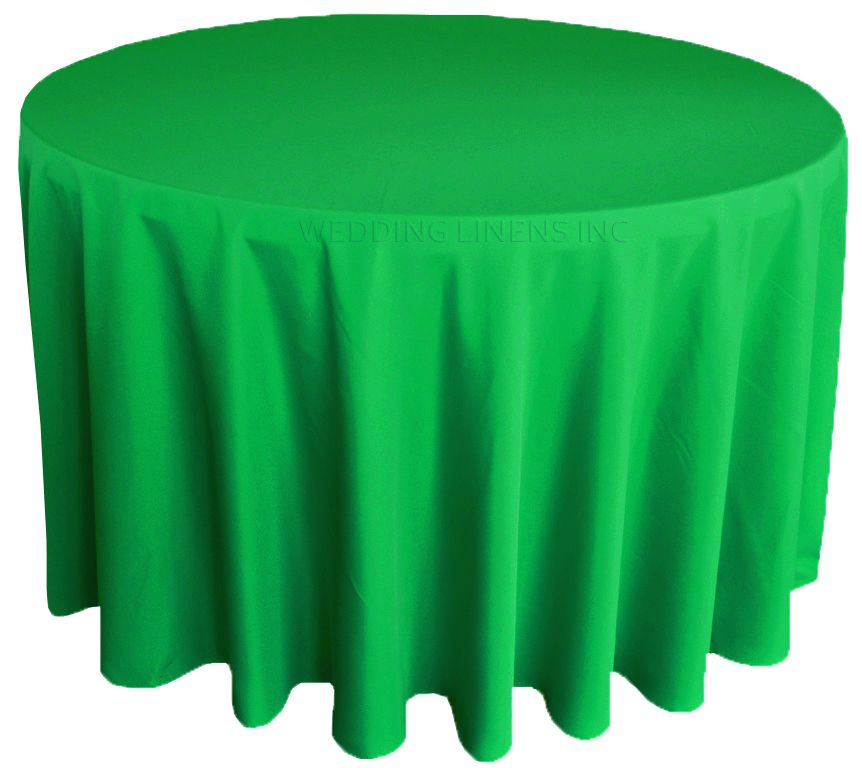 108 Round Polyester Tablecloth Emerald Wholesale Table Covers