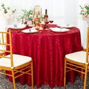 "108"" Round Seamless Sequin Tablecloths (22 Colors)"