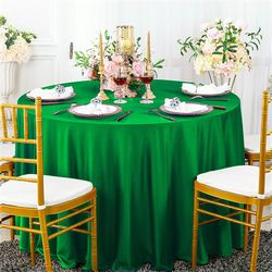 """108"""" Seamless Round Scuba (Wrinkle-Free) Tablecloths (13 Colors)"""