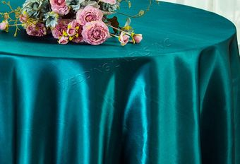 """108"""" Seamless Satin Round Tablecloths (57 colors)"""