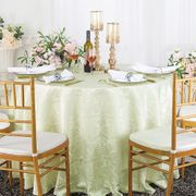 """108"""" Versailles Chopin Seamless Round Jacquard Damask Polyester Tablecloths (14 colors)"""