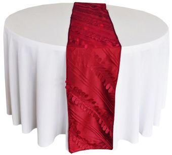 """12""""x 108"""" Forest Taffeta Table Runners (7 Colors)"""