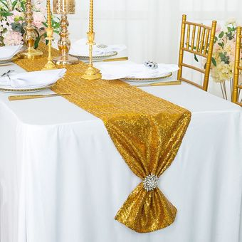 """12""""x 108"""" Sequin Table Runners (21 colors)"""