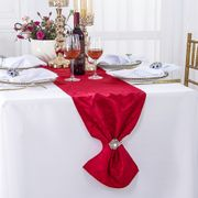 "12"" x108"" Versailles Chopin Jacquard Damask Polyester Table Runners - Apple Red 92108(1pc)"