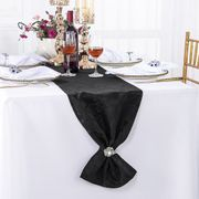 "12"" x108"" Versailles Chopin Jacquard Damask Polyester Table Runners - Black 92139(1pc)"