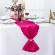 "12"" x108"" Versailles Chopin Jacquard Damask Polyester Table Runners - Fuchsia 92109(1pc)"