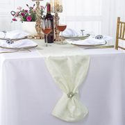 "12"" x108"" Versailles Chopin Jacquard Damask Polyester Table Runners - Ivory 92102(1pc)"