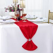 "12"" x108"" Versailles Chopin Jacquard Damask Polyester Table Runners - Red 92112(1pc)"