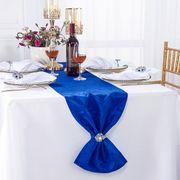 "12"" x108"" Versailles Chopin Jacquard Damask Polyester Table Runners - Royal Blue 92122(1pc)"
