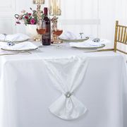 "12"" x108"" Versailles Chopin Jacquard Damask Polyester Table Runners - White 92101(1pc)"