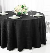 "120"" Plaid Round Polyester Tablecloths (6 colors)"
