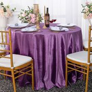 "120"" Round Seamless Italian Velvet Tablecloth - Victoria Lilac/Lavender 25353 (1pc/pk)"