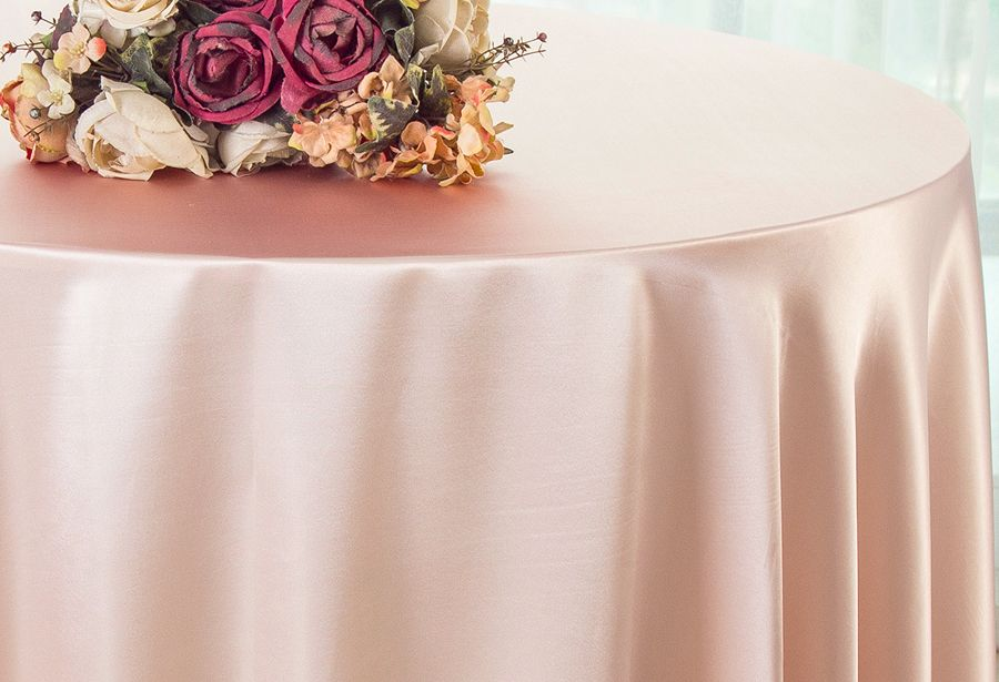 BLUSH 120 Inch ROUND TABLECLOTH Wedding Decorations Party Table Cover