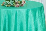 """120"""" Round Seamless Crushed Taffeta Tablecloths (33 Colors)"""