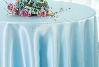 """120"""" Seamless Heavy Duty Satin Round Tablecloths  (40 Colors)"""