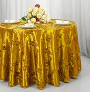 "120"" Round Seamless Ribbon Taffeta Tablecloths (16 Colors)"