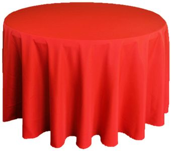 """120"""" Heavy Duty(200 GSM) Round Polyester Tablecloths (27 colors)"""