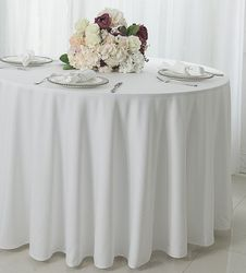 "120"" Seamless Round Scuba (Wrinkle-Free) Tablecloths (7 Colors)"