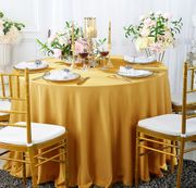 """120"""" Seamless Round Scuba (Wrinkle-Free) Tablecloths (8 Colors)"""