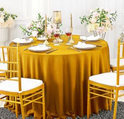 """120"""" Seamless Round Scuba (Wrinkle-Free) Tablecloths (11 Colors)"""