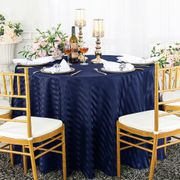 "120"" Striped Round Jacquard Polyester Tablecloths (7 colors)"