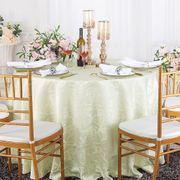 """120"""" Versailles Chopin Round Jacquard Damask Polyester Tablecloth - Ivory 92602(1pc/pk)"""
