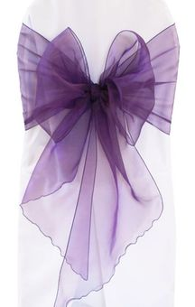 """12""""x 116"""" Angle End Organza Chair Sashes - (41 colors)"""