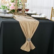"""13""""x 108"""" Scuba (Wrinkle-Free) Table Runner - Champagne 20228 (1pc)"""