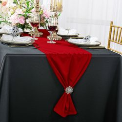 """13""""x 108"""" Scuba (Wrinkle-Free) Table Runner - Red 20212 (1pc)"""