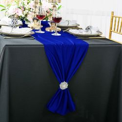 "13""x 108"" Scuba (Wrinkle-Free) Table Runner - Royal Blue 20222 (1pc)"