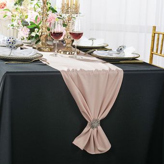 """13"""" x 108"""" Scuba (Wrinkle-Free) Table Runners - 13 Colors"""