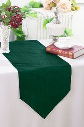 "13""x108"" Crushed Taffeta Table Runner - Hunter Green / Holly Green 61219(1pc)"