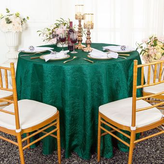 """132"""" Round Crushed Taffeta Tablecloths (33 Colors)"""