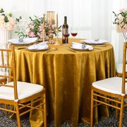 "132"" Round Italian Velvet Tablecloths (9 Colors)"