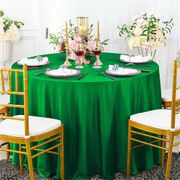 "132"" Round Scuba (Wrinkle-Free) Tablecloth - Emerald Green 20738 (1pc/pk)"