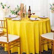 "132"" Round Sequin Taffeta Tablecloths - Canary Yellow 01416 (1pc/pk)"