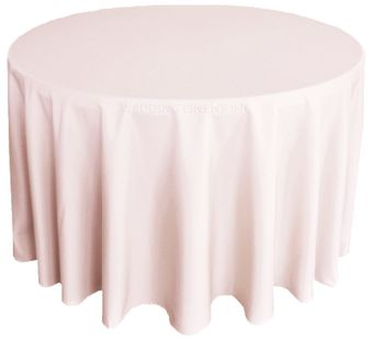 """132""""Heavy Duty(200 GSM) Round Polyester Tablecloths (27 colors)"""