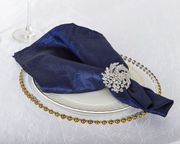 "20""x 20"" Crushed Taffeta Napkins - Navy Blue 61323(10pcs/pk)"