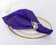 "20""x 20"" Crushed Taffeta Napkins - Regency Purple 61363(10pcs/pk)"