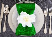 "20""x20"" Sequin Napkins - Emerald Green 01138 (10pc/pk)"