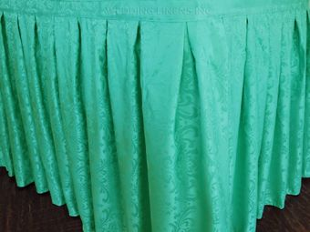 21' Accordion Pleat Damask Jacquard Polyester Table Skirts (13 colors)
