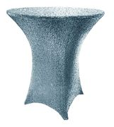 "30"" Cocktail Sequin Spandex Table Cover - Dusty Blue 00703 (1pc/pk)"