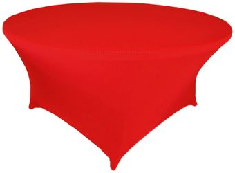 """4 FT / 48"""" (200 GSM) Round Spandex Table Covers  (17 Colors)"""