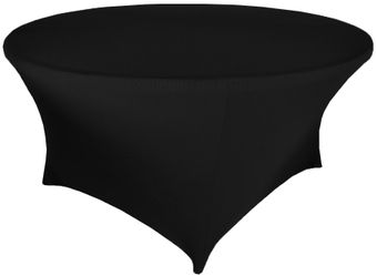 """5 FT / 60"""" (200 GSM) Round Spandex Table Covers  (40 Colors)"""