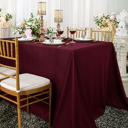 "54""x 96"" Seamless Rectangular Scuba (Wrinkle-Free) Tablecloths (8 Colors)"