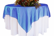 54x54 Square Organza Table Overlays / Tablecloths (41 colors)