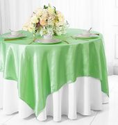 54x54 Satin Table Overlay - Mint Green 50834(1pc/pk)