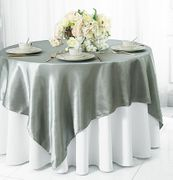 54x54 Satin Table Overlay - Silver 50840(1pc/pk)