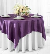 "54"" x 54"" Square Satin Table Overlays / Tablecloths (56 Colors)"