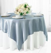 54x54  Square Satin Table Overlay - Dusty Blue 50803 (1pc/pk)